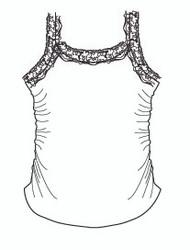Lace Cami with Shirred Sides