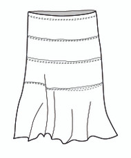 Micro Modal Long Soho Skirt (M5999)