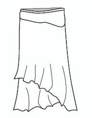 Micro Modal Long Asymmetrical Skirt (M5778)