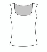 Plus Size Sleeveless Square Neck (PP109T)