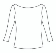 Plus Size 3/4 Sleeve Boat Neck (PP104Q)
