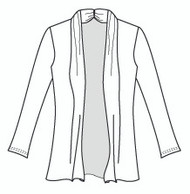 Jersey Plus Size Open Front Cardigan